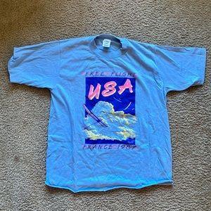 Vintage 1987 free flight USA FRANCE shirt